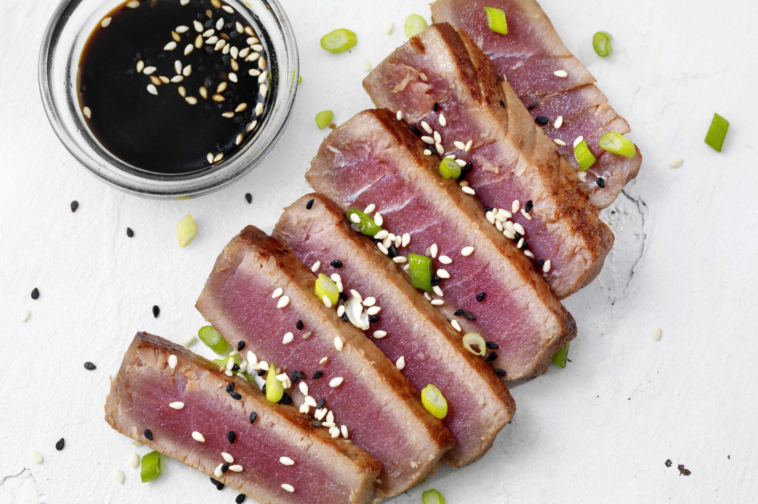 Tataki de atún a la cerveza